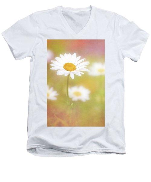 Delightful Daisy Portrait Men's V-Neck T-Shirt