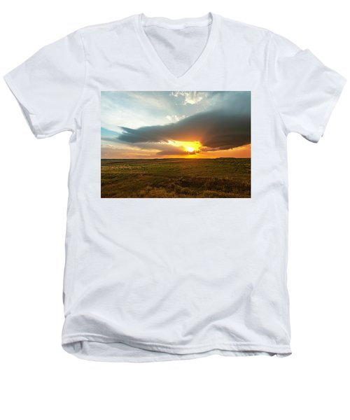 As The Sun Is Setting Men's V-Neck T-Shirt