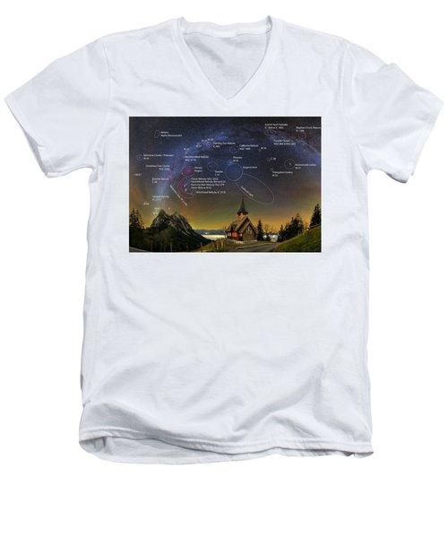 Astrophotography Winter Wonderland Men's V-Neck T-Shirt