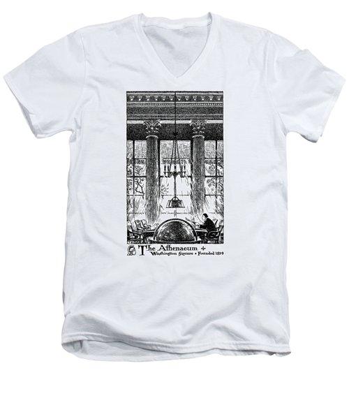 Athenaeum Reading Room Men's V-Neck T-Shirt