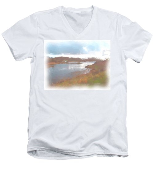 Atlantic View Men's V-Neck T-Shirt