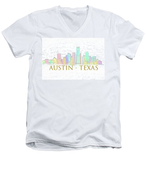 Austin Skyline Men's V-Neck T-Shirt
