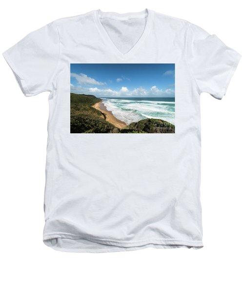 Australia Coastline Men's V-Neck T-Shirt
