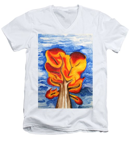 Autumn Tree 2019 II Men's V-Neck T-Shirt