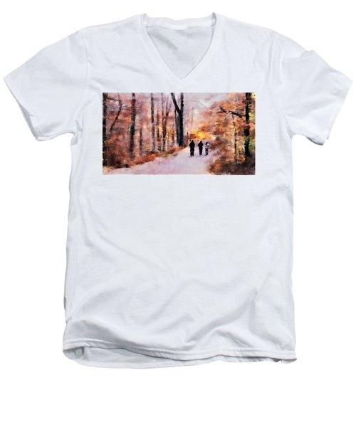 Autumn Walkers Men's V-Neck T-Shirt