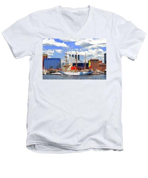 Baltimore's 2012 Sailibration Men's V-Neck T-Shirt