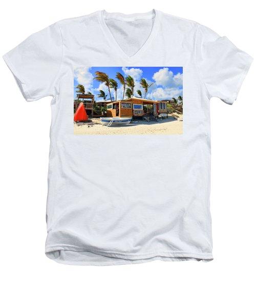 Bankie Banxs Dunes Preserve Beach Bar Men's V-Neck T-Shirt