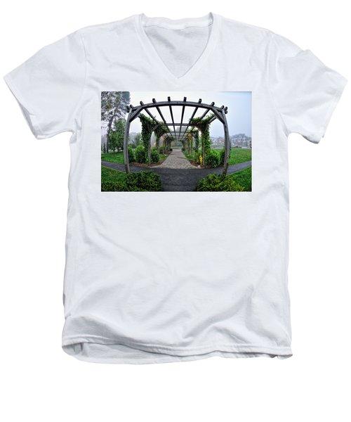 Bar Harbor Pergola Men's V-Neck T-Shirt