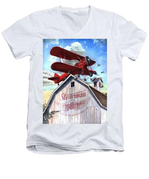 Barn Stormer - Customizeable Men's V-Neck T-Shirt