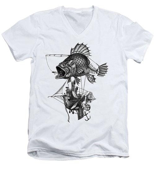 Bass Airship Men's V-Neck T-Shirt