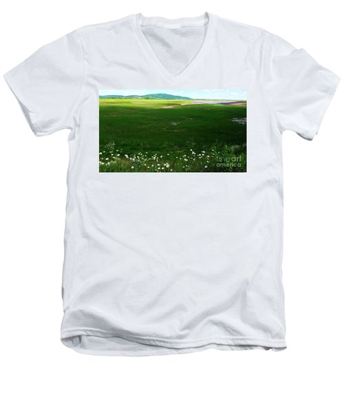 Bay Of Fundy Landscape Men's V-Neck T-Shirt