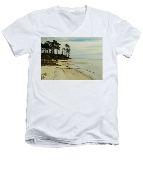 Beach And Trees Men's V-Neck T-Shirt