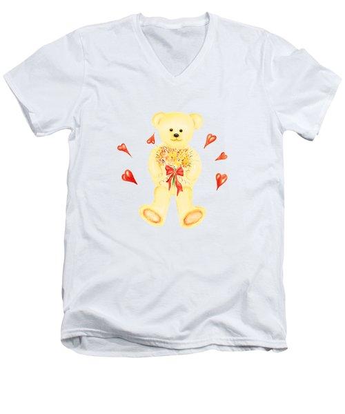 Bear In Love Men's V-Neck T-Shirt