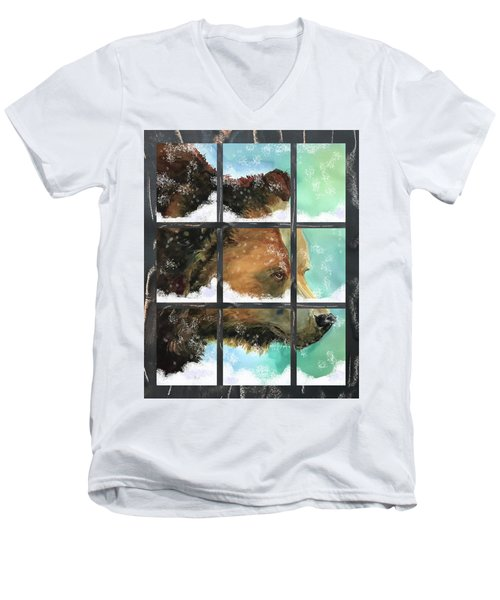 Bear Outside My Window Men's V-Neck T-Shirt