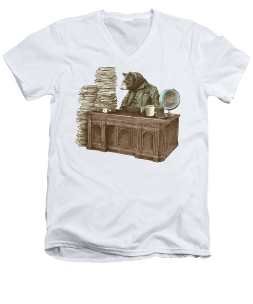 Bearocrat Men's V-Neck T-Shirt