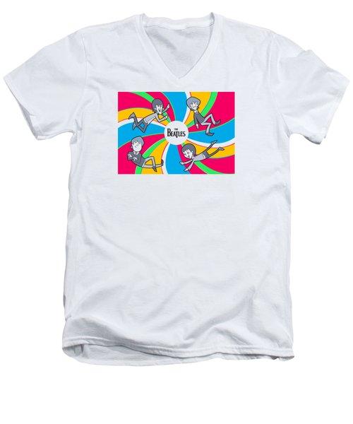 Beatles Men's V-Neck T-Shirt