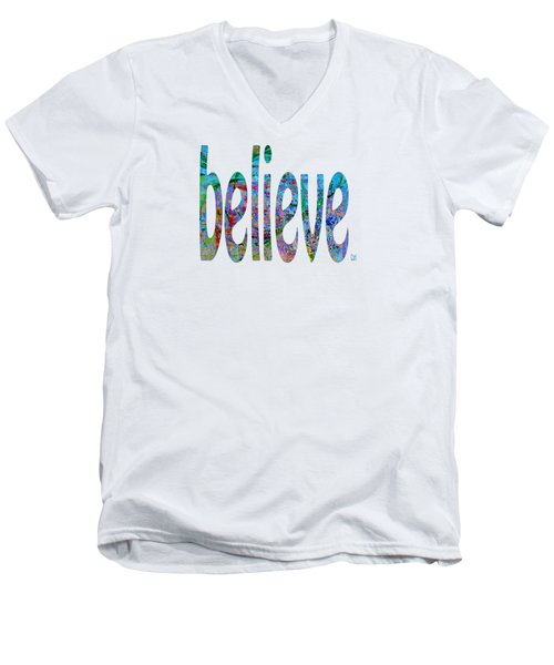 Believe 1001 Men's V-Neck T-Shirt