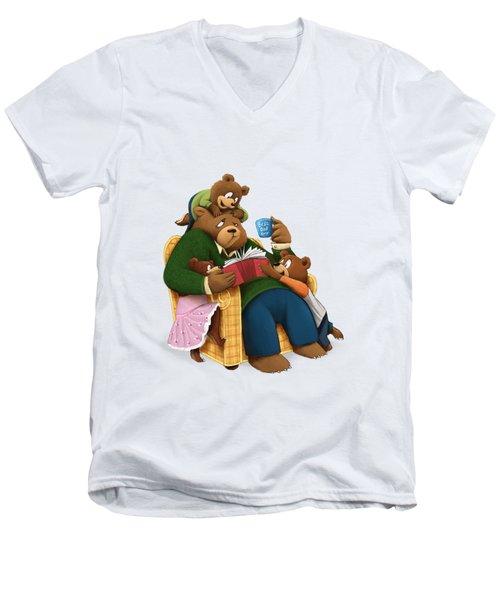 Best Dad Ever Men's V-Neck T-Shirt