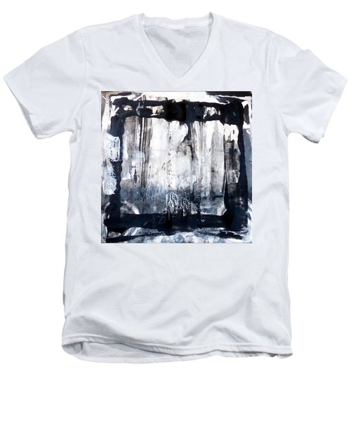 Men's V-Neck T-Shirt featuring the painting Birch by 'REA' Gallery