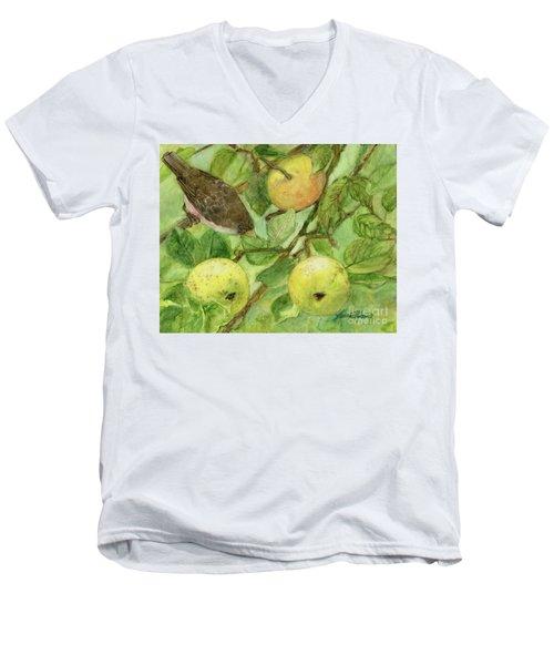 Bird And Golden Apples Men's V-Neck T-Shirt