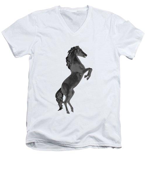 Black Horse Men's V-Neck T-Shirt