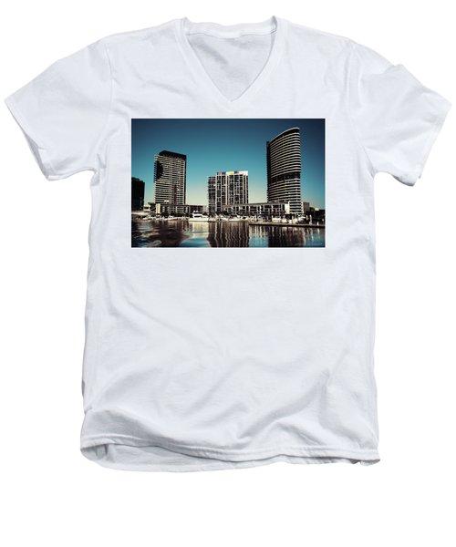 Blue Melbourne Men's V-Neck T-Shirt