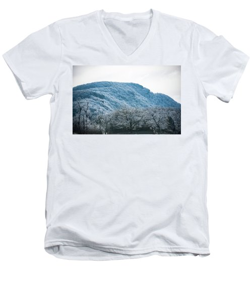 Blue Ridge Mountain Top Men's V-Neck T-Shirt