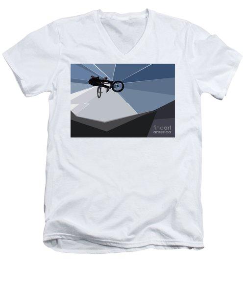 Bmx Biking  Men's V-Neck T-Shirt