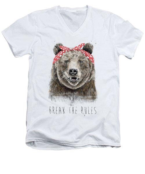 Break The Rules Men's V-Neck T-Shirt