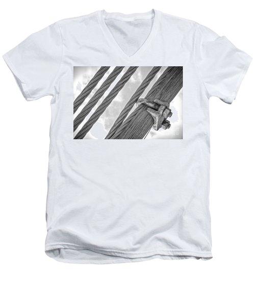 Bridge Cables Men's V-Neck T-Shirt