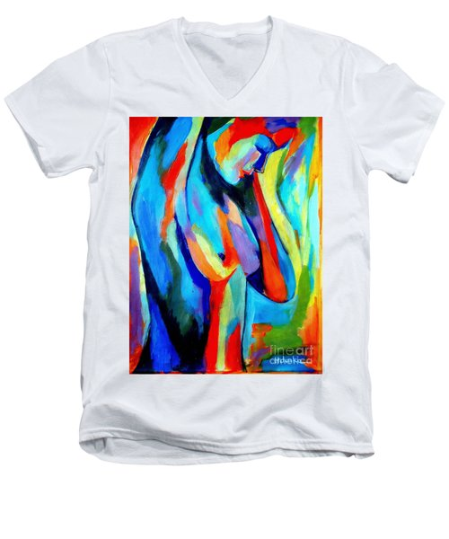 Broken Woman Men's V-Neck T-Shirt