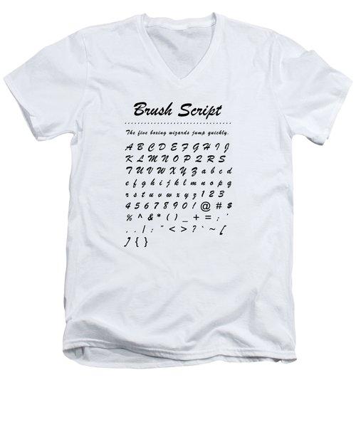 Brush Script - Most Wanted Men's V-Neck T-Shirt
