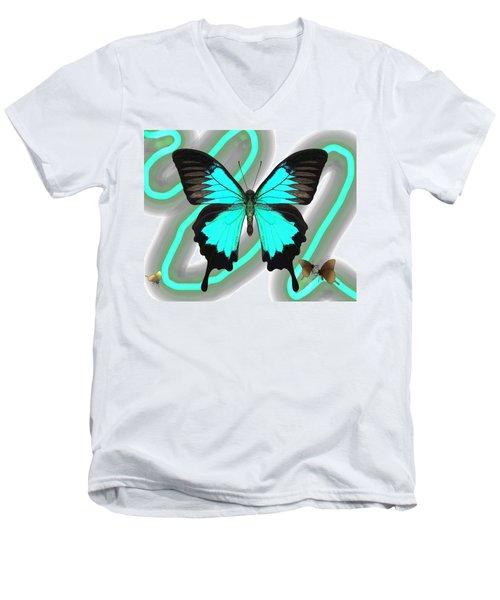 Butterfly Patterns 23 Men's V-Neck T-Shirt