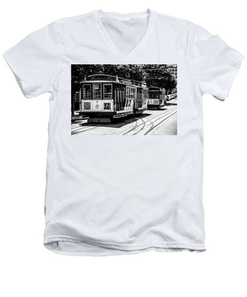Cable Cars Men's V-Neck T-Shirt