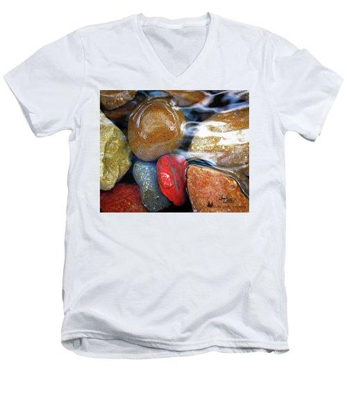 Calming Stones Men's V-Neck T-Shirt