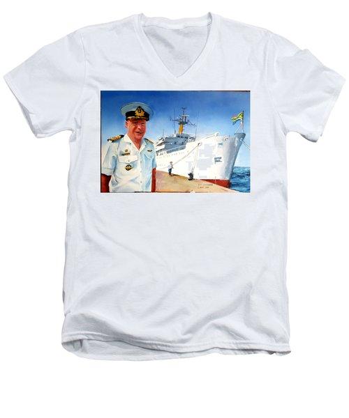 Capt Glen Hallett Men's V-Neck T-Shirt