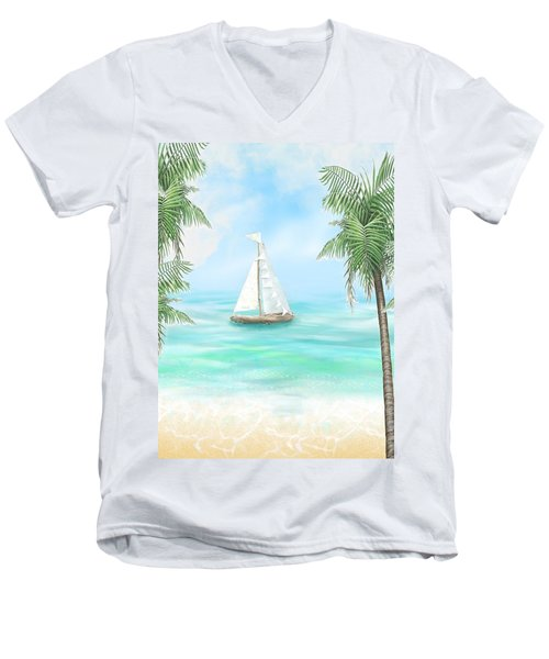 Carribean Bay Men's V-Neck T-Shirt