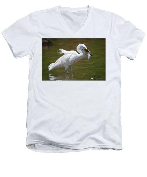 Caught Men's V-Neck T-Shirt