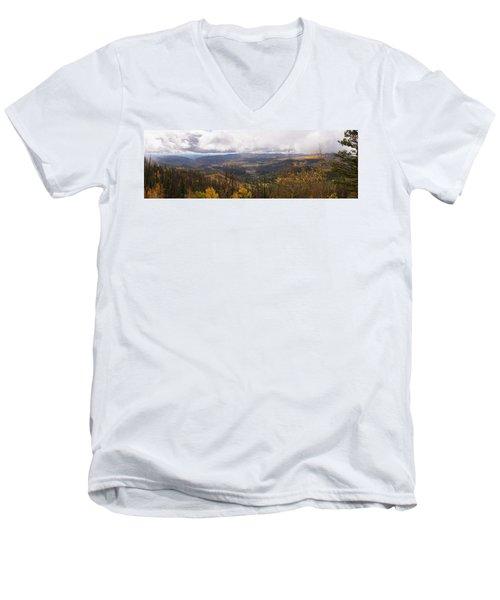 Cedar Mountain Top  Men's V-Neck T-Shirt