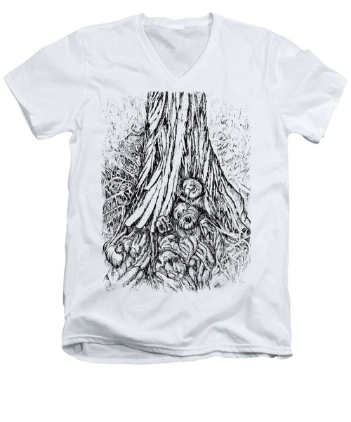 Cedar Tree Men's V-Neck T-Shirt