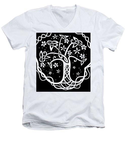 Celtic Tree Of Life 3 Men's V-Neck T-Shirt