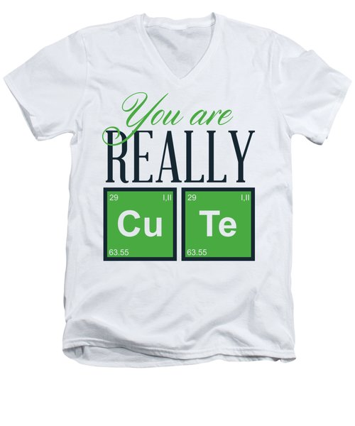 Chemistry Fun You Are Really Cu Te Men's V-Neck T-Shirt
