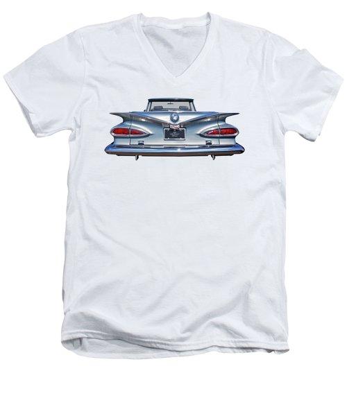 Chevrolet Impala 1959 Shining In The Light Men's V-Neck T-Shirt