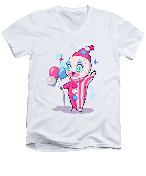 Chibi Pogo Men's V-Neck T-Shirt