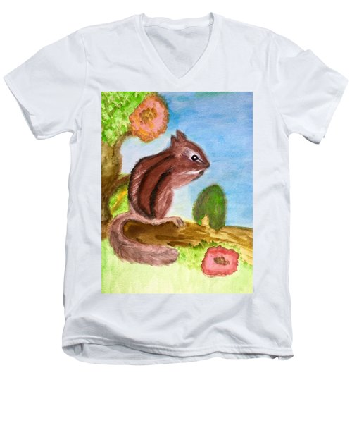 Chipmunk By Dee Men's V-Neck T-Shirt