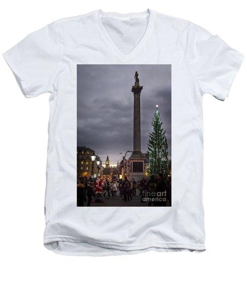 Christmas In Trafalgar Square, London Men's V-Neck T-Shirt