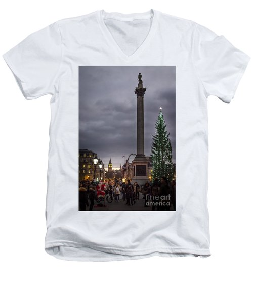 Christmas In Trafalgar Square, London Men's V-Neck T-Shirt