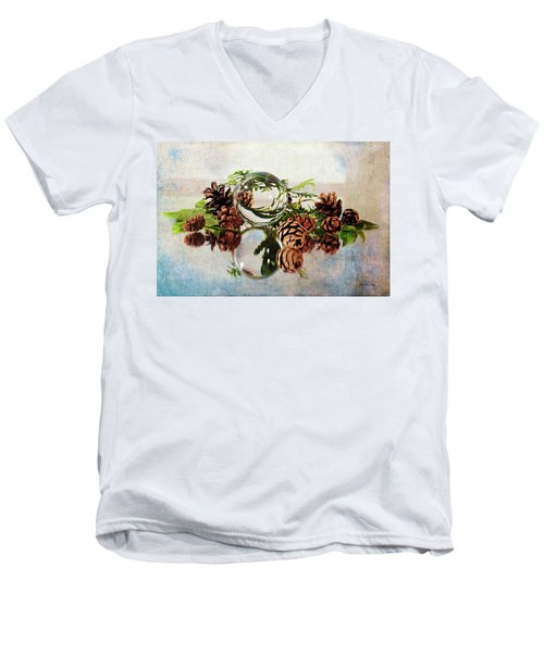 Men's V-Neck T-Shirt featuring the photograph Christmas Thoughts by Randi Grace Nilsberg