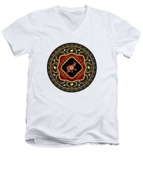 Circumplexical No 3665 Men's V-Neck T-Shirt