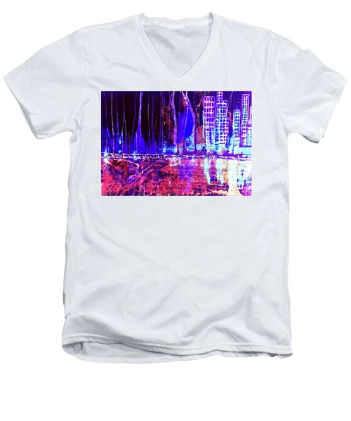 City By The Sea L Men's V-Neck T-Shirt